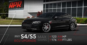 APR 3.0T ECU Upgrade now supports the 2021 Audi S4, S5, and SQ5