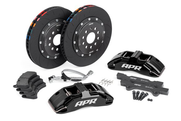 BRK00002 - APR Brakes - 350x34mm 2 Piece 6 Piston Kit - Front - Black - (MQB 312mm) Image