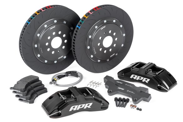 BRK00009 - APR Brakes - 380x34mm 2 Piece 6 Piston Kit - Front - Black - (MQB 340mm) Image