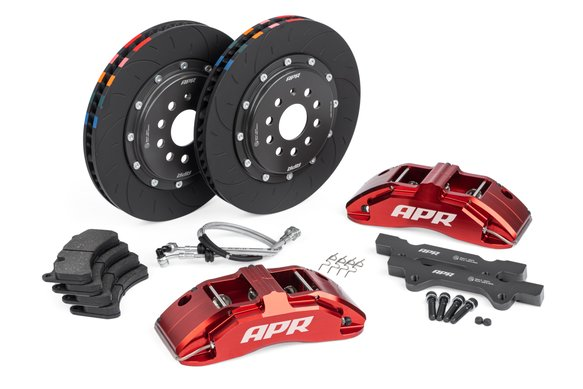 BRK00012 - APR Brakes - 350x34mm 2 Piece 6 Piston Kit - Front - Red - (PQ35 345mm) Image