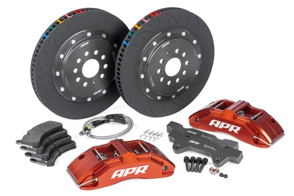 BRK00022 - APR Brakes - 380x34mm 2 Piece 6 Piston Kit - Front - Red - RS3 8V Hatch Image