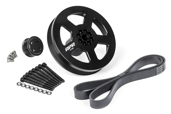 MS100185 - APR 3.0 TFSI Supercharger Drive and Crank Pulley with Belt (Bolt on) Image